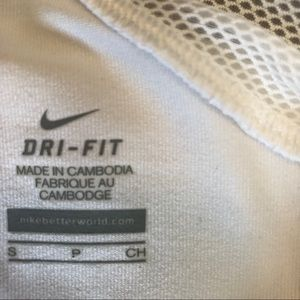 Nike Tops - Nike Dri Fit Racerback White Fitted Tank Size S